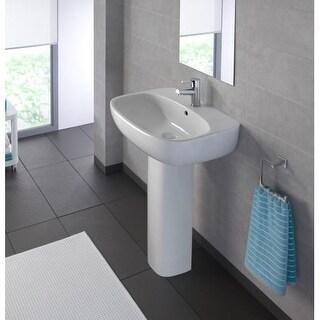 "Bissonnet Moda 50 Pedestal Moda 19-11/16"" Vitreous China Pedestal Bathroom Sink"