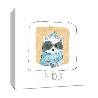"""PTM Images 9-147571  PTM Canvas Collection 12"""" x 12"""" - """"Be Bold"""" Giclee Raccoons Art Print on Canvas"""