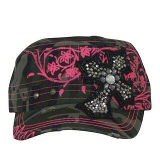 Way West Western Hat Girls Kids Beaded One Size Camo Pink 1597HCJCAM