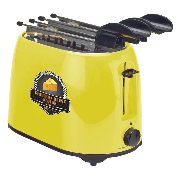 Grilled Cheese Sandwich Maker - Electric Toaster Design - 10.5 in. x 9.5 in. x 7.5 in.