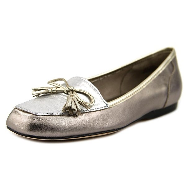 Array Eliza Women N/S Square Toe Leather Silver Loafer