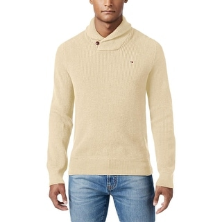 Tommy Hilfiger Mens Pullover Sweater Ribbed Trim Long Sleeves
