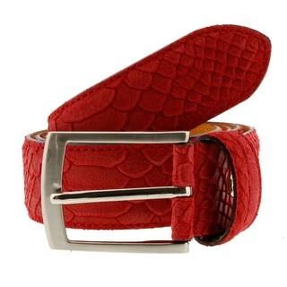 Renato Balestra Y624  Python Embossed Leather Mens Belt