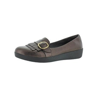Fitflop Womens Buckle Sneakerloafer Fashion Loafers Leather Slip on - 10 medium (b,m)