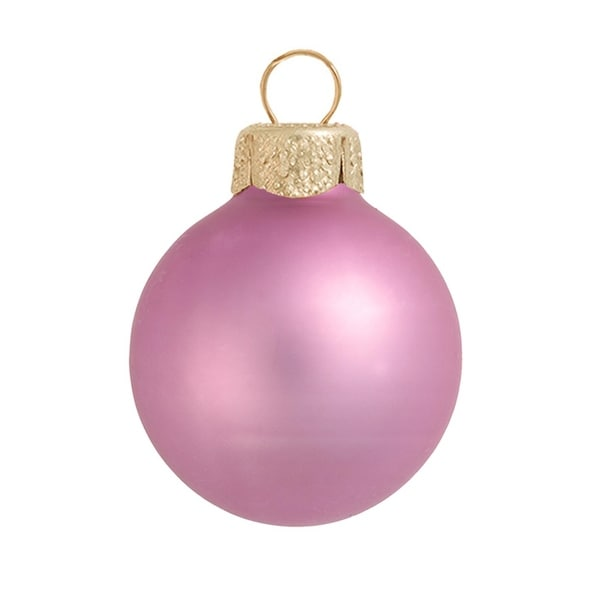 """40ct Matte Rosewood Pink Glass Ball Christmas Ornaments 1.25"""" (30mm)"""