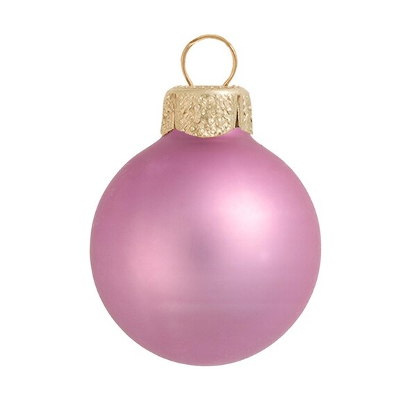 """6ct Matte Rosewood Pink Glass Ball Christmas Ornaments 4"""" (100mm)"""