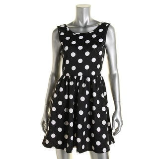 Ruby Rox Womens Juniors Polka Dot Cut-Out Party Dress - M