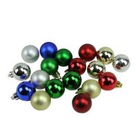 """54ct Traditional Multi-Color Shiny and Matte Shatterproof Christmas Ball Ornaments 1.25"""" (30mm) - multi"""