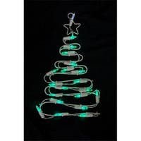 12 in. Battery Operated LED Lighted Christmas Tree Window Silhouette