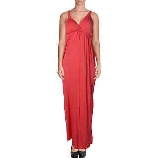 Pink Rose Womens Juniors Maxi Dress Knit Jersey