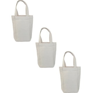 Liberty Bags Canvas Double Wine Bottle Tote Bag (Pack of 3) - One size