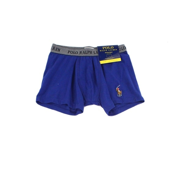 Shop Polo Ralph Lauren Blue Mens Size Small S Logo Boxer Brief Underwear  115 - Free Shipping On Orders Over  45 - Overstock.com - 22123668 3422e33e002