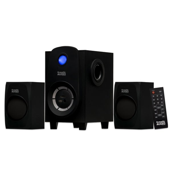 Acoustic Audio AA2107 Bluetooth Home 2.1 Speaker System with USB & SD/MMC Drive