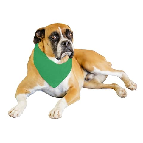 Qraftsy Solid Polyester 12 Pack Dog Neckerchief Triangle Bibs - Extra Large - One Size Fits Most