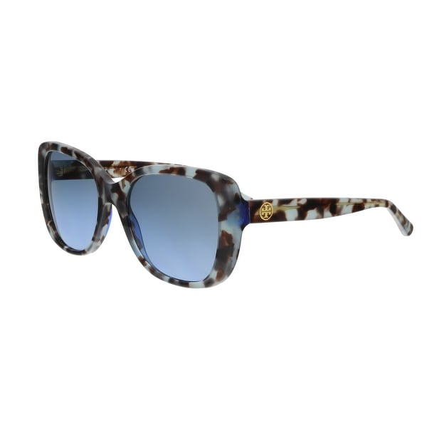e6319b316afd Shop Tory Burch TY7114 16928F Blue Tortoise Square Sunglasses - 53 ...