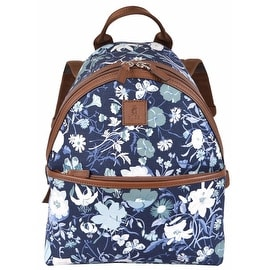 New Gucci Kid's 271327 Blue Canvas Flora Floral Print Small Backpack Purse Bag