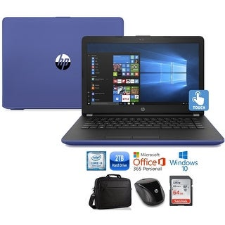 """HP 17 Core i3-7100 2TB HDD 17.3"""" HD+ Touch Screen Laptop Bundle with Office 365"""