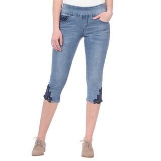 Lola Jeans Michelle-LMLB, Mid-rise Pull On capris