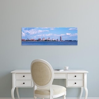 Easy Art Prints Panoramic Image 'Buildings at waterfront, Buffalo, NiagarRiver, Erie County, New York State' Canvas Art