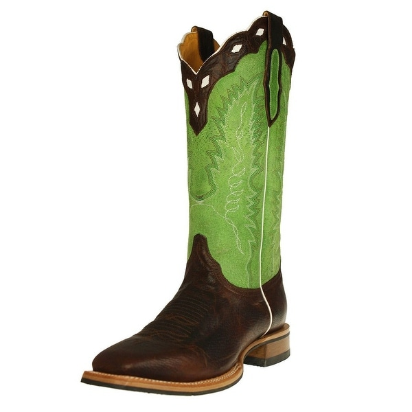 Cinch Western Boots Mens EverSole Square Dark Brown Green