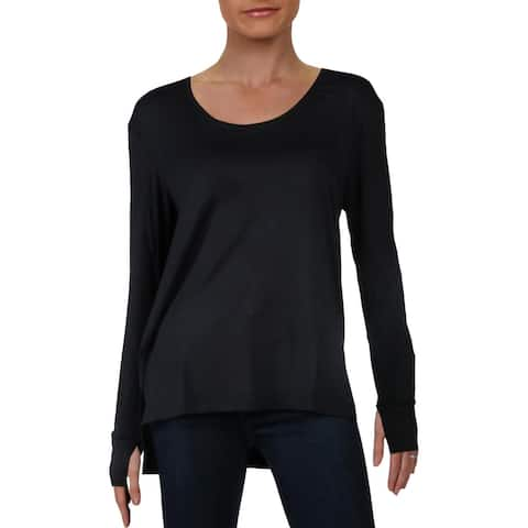 French Connection Women's High-Low Long Sleeve Scoop Neck Sleepwear Lounge Top