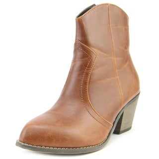 Nomad Sundance Women Pointed Toe Synthetic Brown Bootie