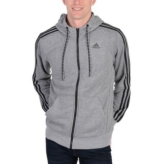 Adidas Mens Sport Essentials Hoodie Dark Grey - Dark Grey/Black