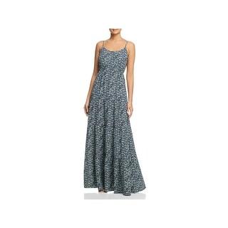 MICHAEL Michael Kors Womens Maxi Dress Floral Print Sleeveless