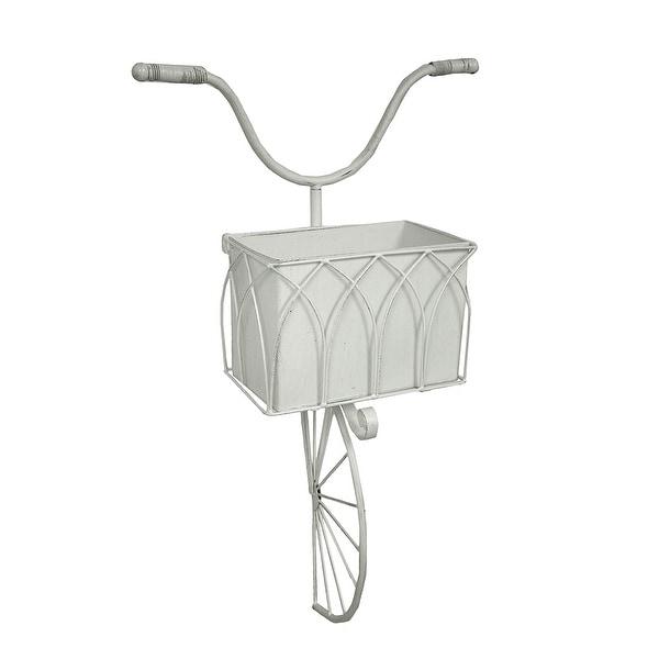 Shop Vintage Bicycle Basket Dimensional Metal Wall Planter 23 Inch