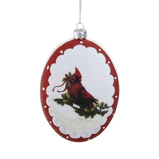 Link to 5 White and Burgundy Cardinal with Holy and Berry Glittered Christmas Tree Ornament Similar Items in Christmas Decorations