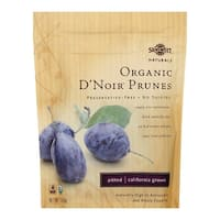 Sunsweet Naturals Organic D'Noir Prunes - Case of 12 - 7 oz.