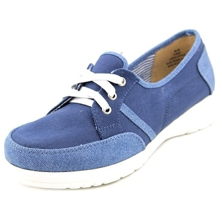 Beacon Sporty Lace Up Women W Round Toe Canvas Sneakers