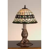 Meyda Tiffany 27539 Stained Glass / Tiffany Accent Table Lamp from the Tiffany Roman Collection - n/a