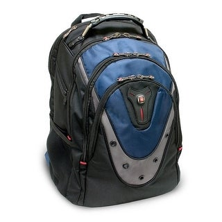 SwissGear GA-7316-06F00 Swissgear IBEX backpack. Fits up to 17in laptop. Black& Blue - Polyester, Nylon