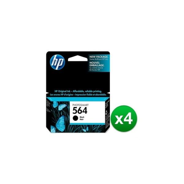 HP 564 Black Original Ink Cartridge (CB316WN)(4-Pack)