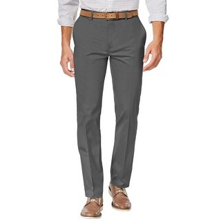 Alfani Red Label Slim Fit Kettle Sateen Flat Front Hemmed Dress Pants 34W x 30L