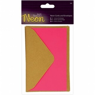 Docrafts PM151851 Papermania Neon Cards With Envelopes - Pink