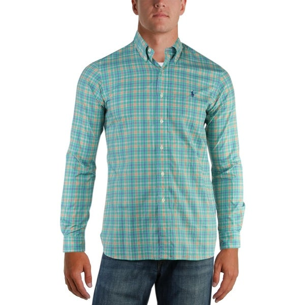 92d7f6640cca Shop Polo Ralph Lauren Mens Button-Down Shirt Plaid Long Sleeves - S - Free  Shipping On Orders Over  45 - Overstock - 25969821