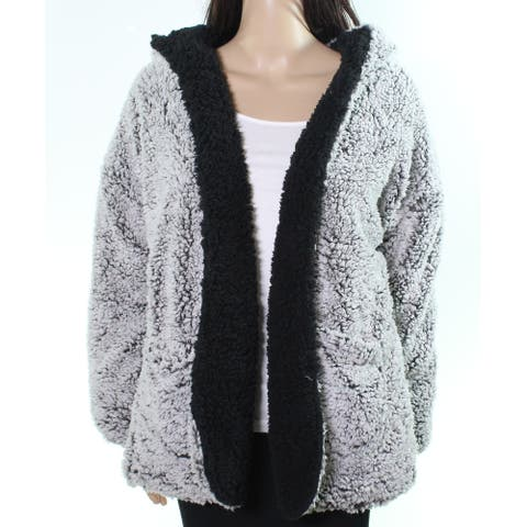 Thread & Supply Womens Jacket Black Gray Size Large L Reversible Soft