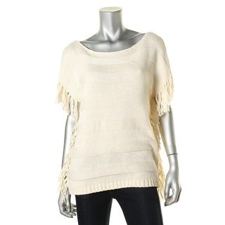American Living Womens Striped Cap Sleeves Pullover Sweater