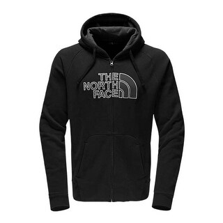 The North Face Men's Avalon Half Dome Full Zip Hoodie Black/Asphalt Grey