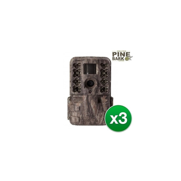 Moultrie MCG-13182 M-40i Game Camera w/ 1080p Full HD Video & 16 MP Resolution (3 Pack)