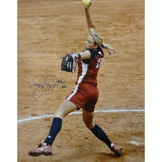 Jennie Finch Autographed USA 2004 Olympic Action 16x20 Photo