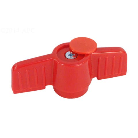 Red Orange Pvc Handle for 1.5 Inches HIMP Ball Valve