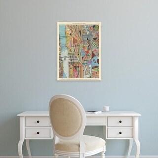Easy Art Prints Nikki Galapon's 'Modern Map of New York I' Premium Canvas Art