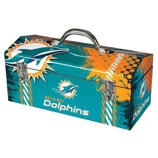 "Sainty 79-316 Miami Dolphins NFL Tool Box, 10"""