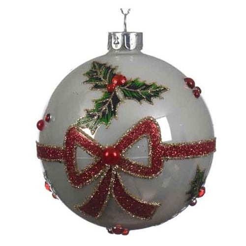 Holly Ball With Bow