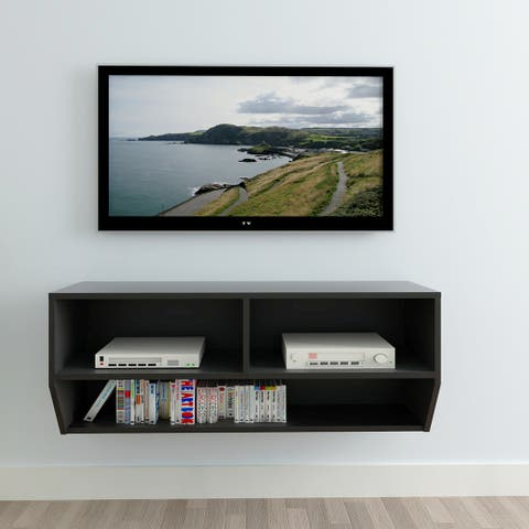 """40"""" Simple Wall TV Cabinet Black"""