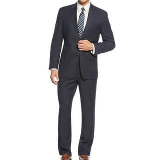IZOD NEW Navy Blue Mens Size 40 Long Two Button Notched Suit Set