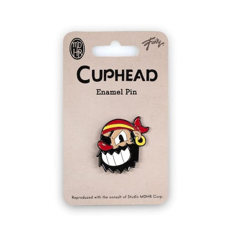 Cuphead Collectibles Pirate Boss Enamel Collector Pin Collectors Edition - White